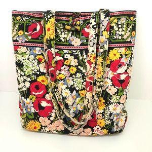 Vera Bradley poppy fields floral patterned tote